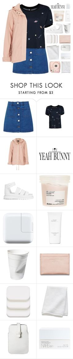 """strawberry champagne on ice"" by hhuricane ❤ liked on Polyvore featuring Miss Selfridge, Topshop, Yeah Bunny, Dr. Martens, Davines, Hermès, Acne Studios, COVERGIRL, CB2 and Mossimo"
