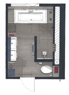 Gutes Layout. Tür auf Toilette  #bathroomdesignideas #gutes #layout #toilette
