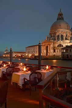 Nothing says Venetian romance quite like a candlelit dinner on the canal at Gritti Palace.