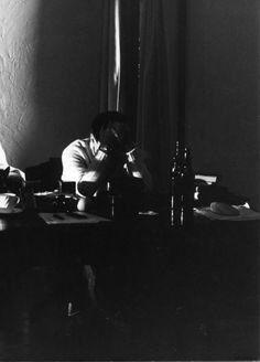 Andrei Tarkovsky on the set of the Sacrifice.