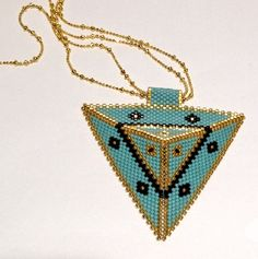 #necklace #miyuki #handcrafted #triangle #style
