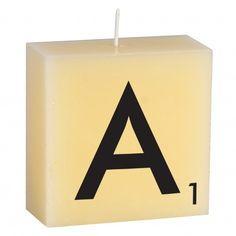 Alphabet Candle, letter 'A'