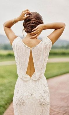 Simple chic wedding dress -- I feel like I'd wear something like this to the reception instead lol