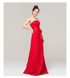 pas cher, Achetez directement de China Suppliers: Robe de soirée formelle 2014 tube. top floor- longueur de l'épaule minces. formelle. queue de poisson rouge en dentelle robe de dîner