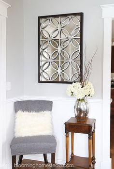 Pretty ideas for my home decor. Love the mirror!