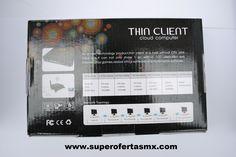 Terminal Thin Client sin WiFi caja parte trasera