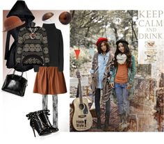 """""""Layers One, Two, Three, and a Hat and a Hood"""" by classykaris ❤ liked on Polyvore"""