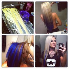 DIY Clip In Colored Extensions Manic Panic Rockabilly Blue