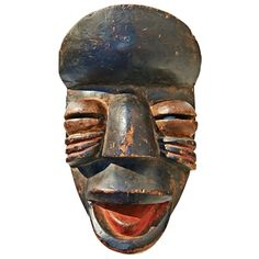 Nguere Mask | From a unique collection of antique and modern tribal art at http://www.1stdibs.com/furniture/more-furniture-collectibles/tribal-art/