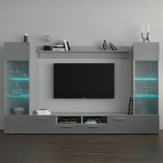 Tv Cabinet Design, Tv Wall Design, Entertainment Center Wall Unit, Contemporary Entertainment Center, Modern Tv Wall Units, Living Room Tv Unit Designs, Grey Walls, Studio, Entertaining