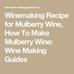 Winemaking Recipe for Mulberry Wine, How To Make Mulberry Wine: Wine Making Guides Cranberry Wine, Cranberry Recipes, Apple Recipes, Canning Recipes, Wine Recipes, Mulberry Wine, Mulberry Recipes, Apple Wine, Wine Yeast