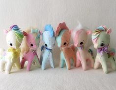✩✩✩ This is an Instant Download pdf Pattern that you can instantly download and print yourself immediately after purchase These adorable ponies can be customized in many different ways - try a Rainbow pony or a little Pegasus or make one with a sparkly Unicorn horn! Perfect for a baby shower gift or for a special someone who just loves ponies!  Ive included lots of fun options with this pattern, such as 3 different types of manes, 2 styles of tails, fun designs to applique on the flank…