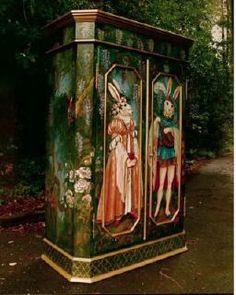 Pamela Silin Palmer Artist and Designer Whimsical Painted Furniture, Hand Painted Furniture, Paint Furniture, Furniture Makeover, Furniture Decor, Repainting Furniture, European Furniture, Funky Furniture, Victorian Gothic
