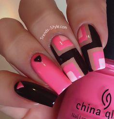 Retro Neon Nails Tutorial ❤