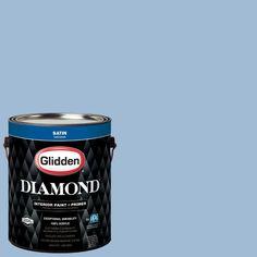 Glidden Diamond 1 gal. #HDGV19D Duchess Blue Satin Interior Paint with Primer