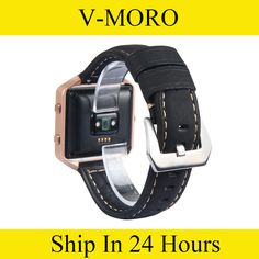 >> Click to Buy << V-MORO Genuine Leather Wrist Strap For Fitbit Blaze Band Watch Band Replacement Bracelet for Fitbit Blaze Brown Black #Affiliate