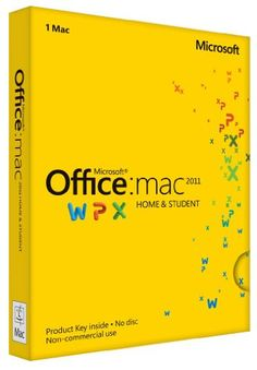 Amazon.com: Office Mac Home & Student 2011 Key Card (1PC/1User): Software