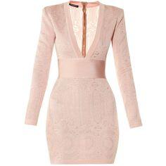 Balmain MATCHESFASHION.COM ($1,815) ❤ liked on Polyvore featuring dresses, balmain, pink dress and balmain dress