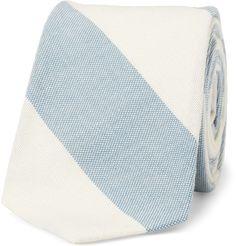 Slim old school striped tie
