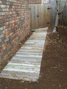 These wood walkway ideas may be exactly what you need to get your plans going in redoing your outdoor area. Either the wood walkway leads to the. Pallet Walkway, Wood Walkway, Pergola Shade, Diy Pergola, Pergola Ideas, Pergola Kits, Pergola Garden, Wooden Pergola, Garden Seating