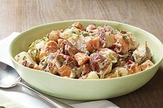 Our country-style smashed potato salad is devilishly good, thanks to the addition of hard-cooked eggs and MIRACLE WHIP.