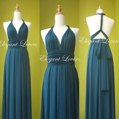 Check out this item in my Etsy shop https://www.etsy.com/uk/listing/274584306/convertible-dress-teal-wedding-dress