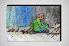 "Saatchi Online Artist: tony backfalt; Colored Pencils, 2013, Drawing ""Before,Now,Future"""
