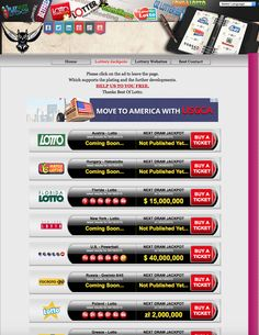 Play the biggest lotteries of the world. http://www.bestoflotto.com/lottery-jackpots.html
