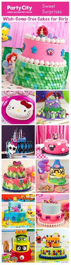 Nom, nom! Dozens of *wow* cake ideas… from fin-tastic Ariel to cute-n-colorful Elmo! Step-by-step decorating how-to's and more awesome ideas are a click away.