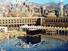 Kaaba, Mecca, Saudi Arabia, with Randa on a flt. with HRH P.H.