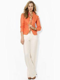 Three-Button Jacket - Jackets  Women - RalphLauren.com