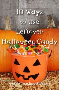 Got leftover Halloween candy? Can't let the kids eat any more sugar? Stretch your budget with these 10 ways to use leftover Halloween candy!