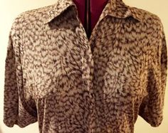 1980s Milanzo Womens Vintage Brown Dolman Batwing Sleeve High Low Button Down Fitted Collared Tunic Style Shirt Top Women's Size 7 Small by ladyjeanvintageetc. Explore more products on http://ladyjeanvintageetc.etsy.com