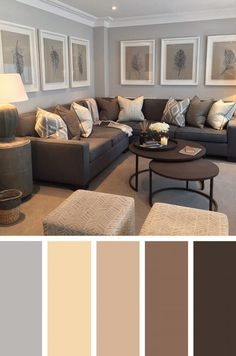 Unique The Biggest Contribution Of Most Popular Living Room Colors To Humanity Living Room Wall Colours, Gray Living Room Walls, Living Room Color Schemes, Living Room Paint, New Living Room, Small Living, Living Room Designs, Grey Living Room With Color, Grey And Brown Living Room