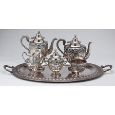 Mexican Sterling Silver Tea & Coffee Service Sold $4,800
