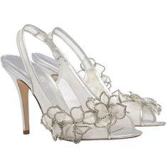 Designer Wedding Shoes | ... Rose Nadia Ivory and Silver Designer Wedding Shoes - Elegant Steps
