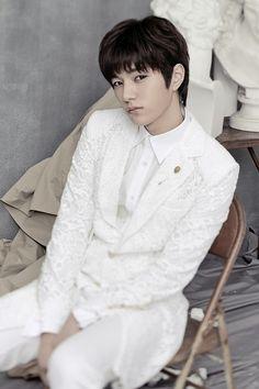 "INFINITE are dashing in all white for ""Last Romeo"" solo concept photos! | allkpop.com"