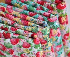 Juicy strawberry fabric set
