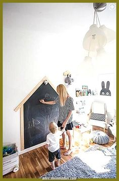 41 Best Kids Room Ideas Decoration and Creative - Pandriva Need a children room layout ideas for your child? From charming bunk beds to elegant nurseries to Do It Yourself decoration ideas, right here are the best kids area layout and embellish! Little Architects, Playroom Decor, Bedroom Decor, Bedroom Furniture, Kid Furniture, Plywood Furniture, Chalkboard Wall Playroom, Chalkboard Walls, Furniture Design