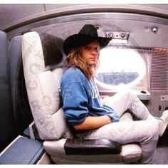 Jon Bon Jovi on his private jet #80s