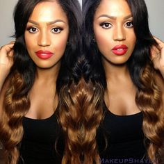 Remy Human Hair, Remy Hair, Ombre Human Hair Extensions, Weave Extensions, Full Lace Front Wigs, Natural Hair Styles, Long Hair Styles, Hair Affair, Peruvian Hair