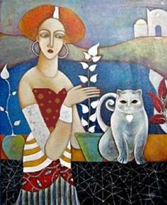 CAT AND LADY