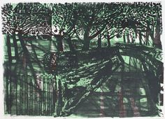 Orchard (No. by Robert Tavener Collage Illustration, Mixing Prints, Art School, 6 Years, 9 And 10, Printmaking, Black And White, Drawings, Trees