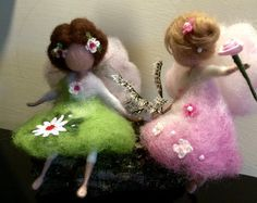 Needle felted fairy on a swing Children room Waldorf by DreamsLab3
