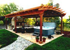Outdoor Gazebo Designs Landscaping Ideas For Backyard Patio Wooden Pergolas Gazebos | KindyGarden.com