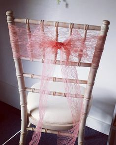 These beautiful peach/pink lace chair sashes, make a stunning finish! Perfect chair decor for chiavari chairs! Pew Ends, Chiavari Chairs, Chair Sashes, Pink Lace, Ladder Decor, It Is Finished, Peach, Range, Stove