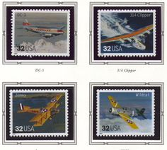Classic American Aircraft USPS Postage Stamps by GoodKarmaHedgehog,    19.95
