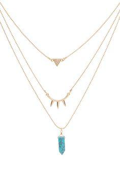 Mayan Princess Layered Necklace