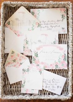 Moira Design Studio watercolor invites