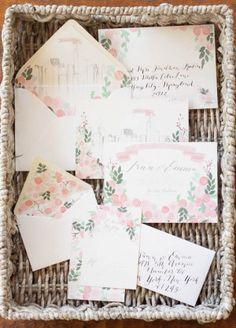 Floral Wedding Invitations Moira Design Studio9 300x418 Emma + Finns Floral New York City Wedding Invitations